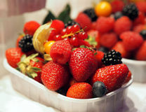 Various fresh fruits and berries Stock Photo