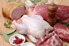 Various Fresh Meats stock images