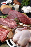 Various Fresh Meats Stock Photography