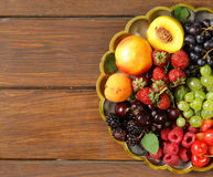 Various fresh organic berries Royalty Free Stock Photos