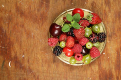 Various fresh organic berries Royalty Free Stock Image