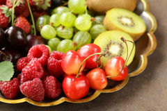 Various fresh organic berries Royalty Free Stock Images