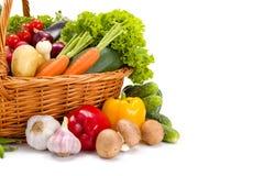 Various fresh vegetables in basket Royalty Free Stock Photo