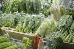 Various fresh vegetables in market. Royalty Free Stock Photo