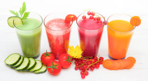 Various Freshly Vegetable Juices. Some various Freshly Vegetable Juices stock photo