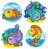 Various freshwater fishes 1. Illustration Stock Images