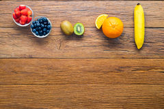 Various fruit arrange on the table Stock Photography
