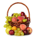 Various fruit in a  basket Royalty Free Stock Photos