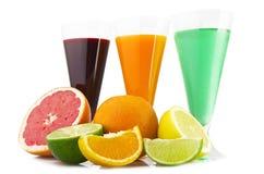 Various fruit cocktails Stock Photos