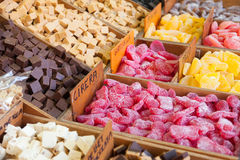 Various fruit jelly. For sale royalty free stock images