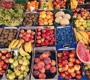 Various fruit in marketplace Stock Photography