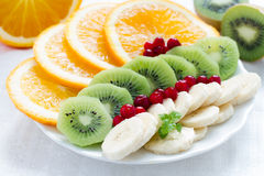 Various fruit on a plate Royalty Free Stock Photo