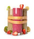 Various fruit smoothies. On white background stock images