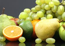 Various fruit still-life Stock Photos
