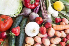 Various Fruit and Vegetables Stock Image