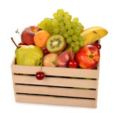 Various fruit in a wooden box Royalty Free Stock Image