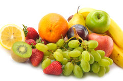 Various fruits. On the white background Stock Image