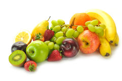 Various fruits. On the white background Royalty Free Stock Image