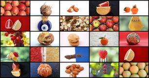 Various fruits and  eye-shaped arabic Nazar symbol Royalty Free Stock Photos