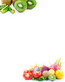 Various fruits for framing paper Stock Photography