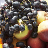 Various fruits - grapes, apple, Royalty Free Stock Photography