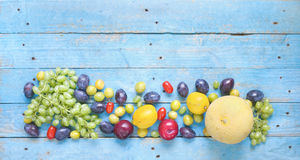 Various fruits, healthy nutrition, dieting Stock Photos