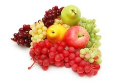 Various fruits isolated on the. Various fruits isolated  on the white background Royalty Free Stock Image
