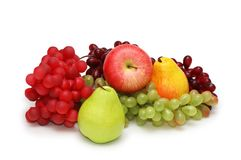 Various fruits isolated Royalty Free Stock Image