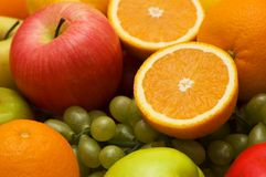 Various fruits isolated Stock Images