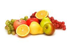 Various fruits isolated Stock Photography