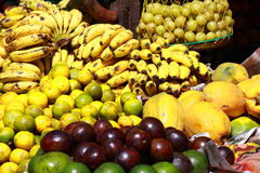 Various fruits at local market in India Stock Photos