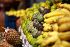 Various fruits at local market in India Stock Images