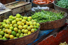 Various fruits at local market in India Royalty Free Stock Image