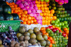 Various fruits at local market Royalty Free Stock Images