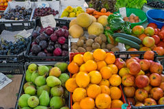 Various fruits at a market Stock Photos