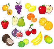 Various Fruits Part 1. A collection of various fruits stock illustration