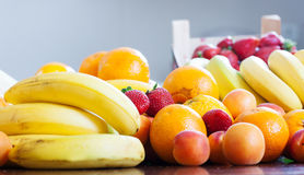 Various fruits at table Royalty Free Stock Images