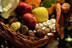 Various fruits and vegetables Stock Photography