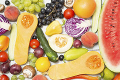 Various fruits and vegetables Royalty Free Stock Image