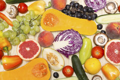 Various fruits and vegetables Stock Images