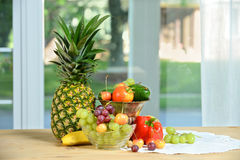 Various Fruits and Vegetables Royalty Free Stock Photos