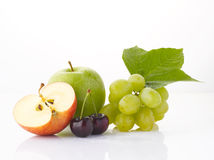 Various fruits  on the white background Royalty Free Stock Image