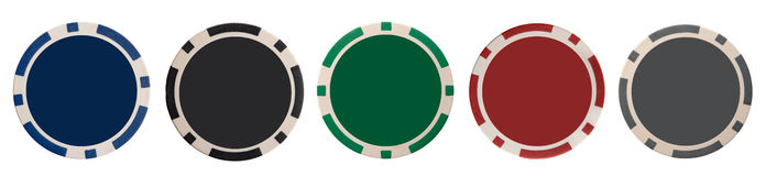 Various gambling chips Royalty Free Stock Photos