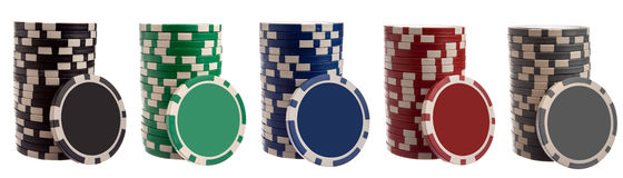 Various gambling chips Stock Photography
