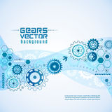 Various Gears With Cogwheels  Background Stock Image