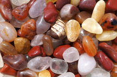 Various gemstones in yellow and brown Stock Image