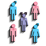 Various gender identities icons Stock Photo