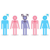 Various gender identities icons Stock Images