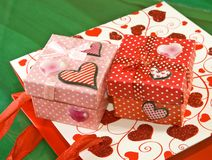 Various gift boxes and gift packs Royalty Free Stock Photography