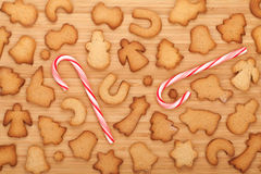 Various gingerbread cookies Stock Image